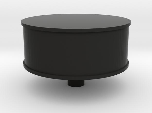 Heart Amulet Big - Ring Insert for Ring58 (18.5mm) in Black Natural Versatile Plastic