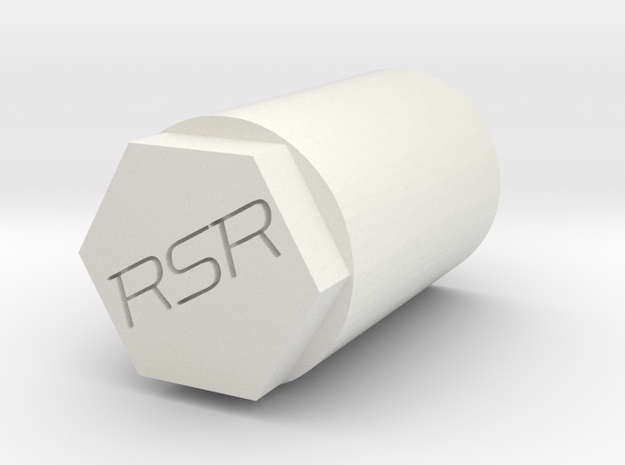 Ronal Crawler Nut in White Natural Versatile Plastic