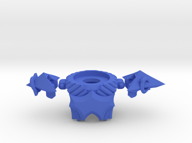 War Preist Armor in Blue Processed Versatile Plastic