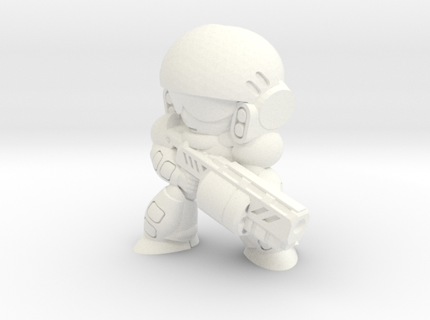 C-INF GRENADIER (EYES RIGHT) in White Strong & Flexible Polished