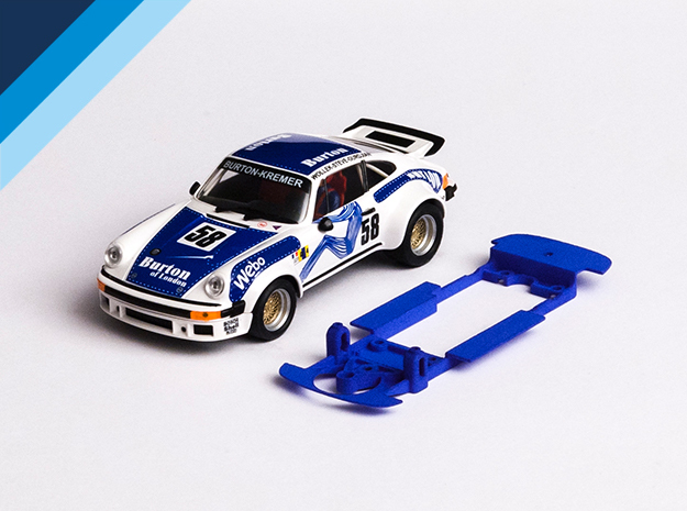 1/32 Ninco Porsche 911 Chassis for Slot.it pod in Blue Strong & Flexible Polished