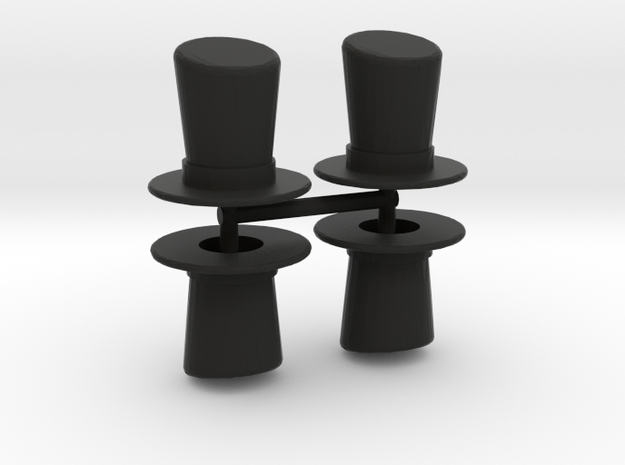Top Hat Boardgame Counters (x4) in Black Strong & Flexible