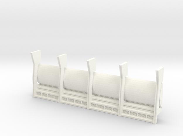 REAR WALL DEAGOSTINI FALCON CARGO BAY in White Processed Versatile Plastic