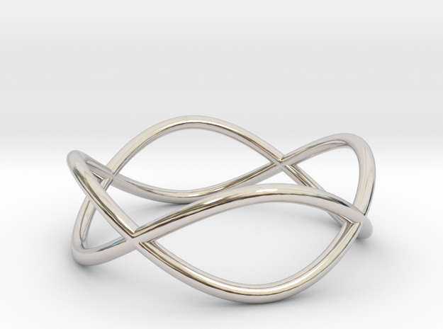 Size 6 Infinity Ring in Rhodium Plated Brass