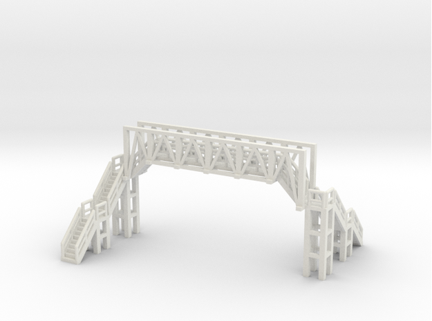 Brücke 2 - 1:220 (Z scale) in White Natural Versatile Plastic
