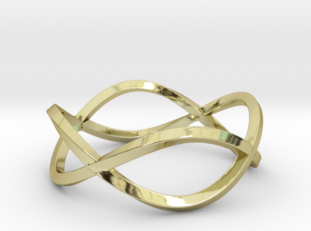 Size 7 Infinity Twist Ring in 18k Gold Plated Brass