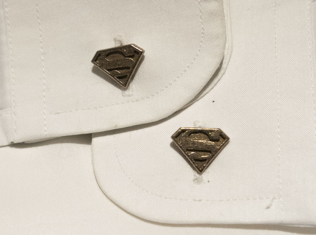 Superman Cuff links   3d printed