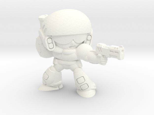 C-INF SGT. w/ DUAL SIDEARMS in White Processed Versatile Plastic