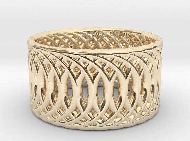 Ring of Rings V2 - 18.5mm Diam in 14k Gold Plated