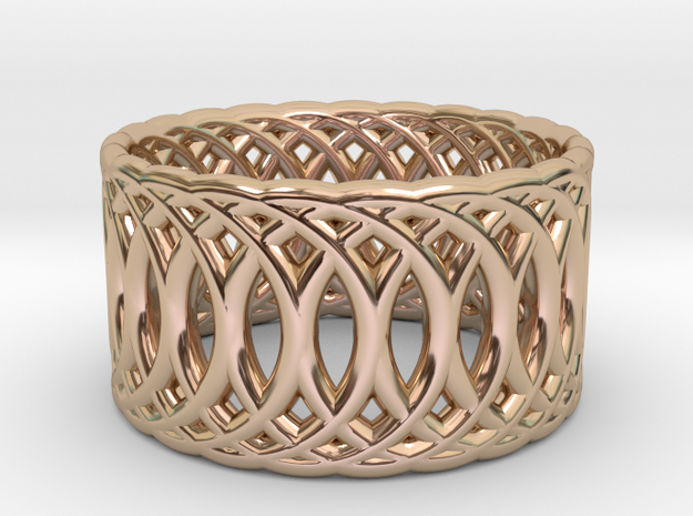 Ring of Rings V3 - 18.5mm Diam in 14k Rose Gold Plated