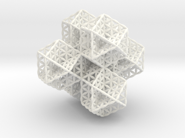 "Spacetime Molecule 2.5"" in White Processed Versatile Plastic"