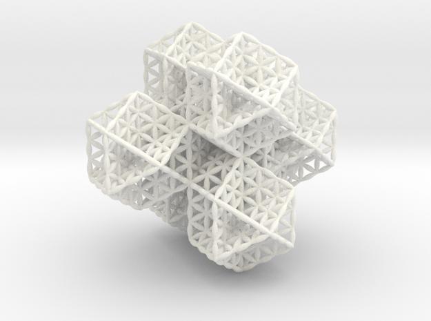 """Spacetime Molecule 2.5"""" in White Processed Versatile Plastic"""