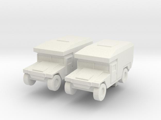1/200 Humvee M997 set of 2 in White Natural Versatile Plastic