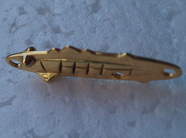 +fishing lure goldy 3d printed