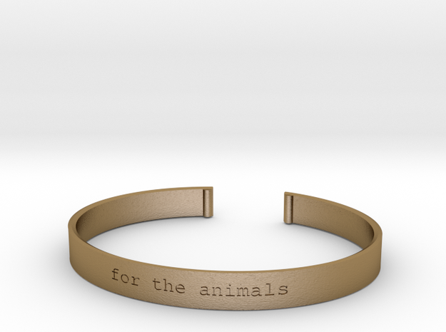 For the Animals Bracelet in Polished Gold Steel