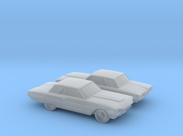 1/200 2X 1964 Ford Thunderbird in Smooth Fine Detail Plastic
