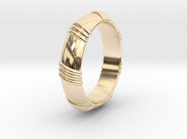 Ø0.650 inch/Ø16.51 mm Ring in 14k Gold Plated Brass