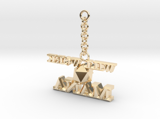 Mana-Keychain in 14k Gold Plated Brass