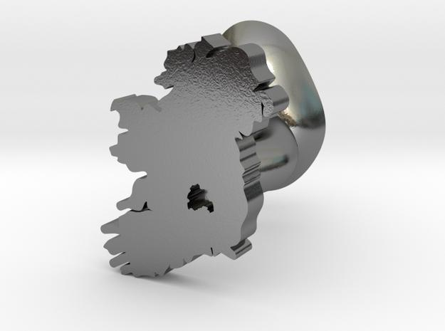 Laois Cufflink in Polished Silver
