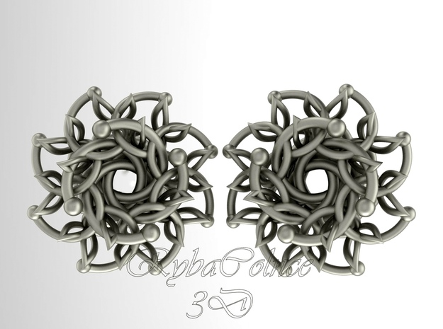 "Plugs / gauge / size 9/6"" (14mm) in Polished Silver"