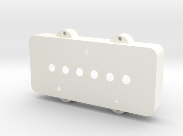 Jazzmaster Pickup Cover - Telecaster Bridge in White Processed Versatile Plastic