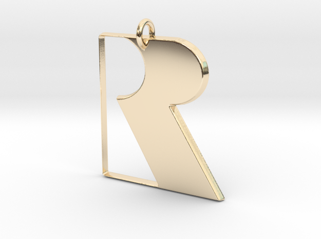 Rareware Pendant in 14k Gold Plated Brass