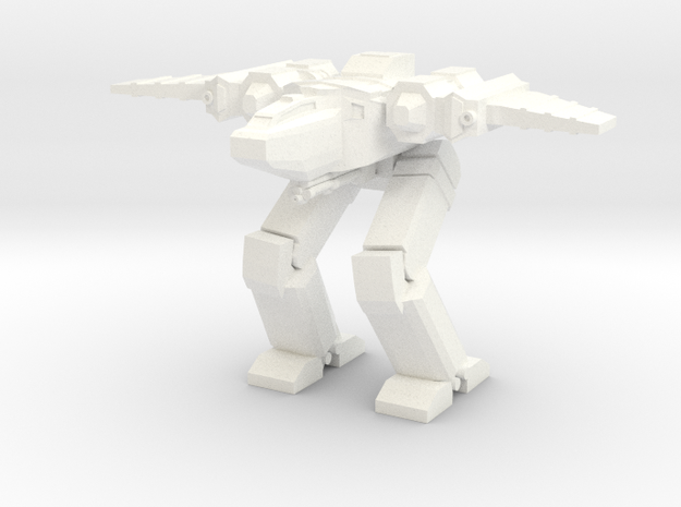 Chimera Advanced Battlesuit Hybrid Mode in White Strong & Flexible Polished