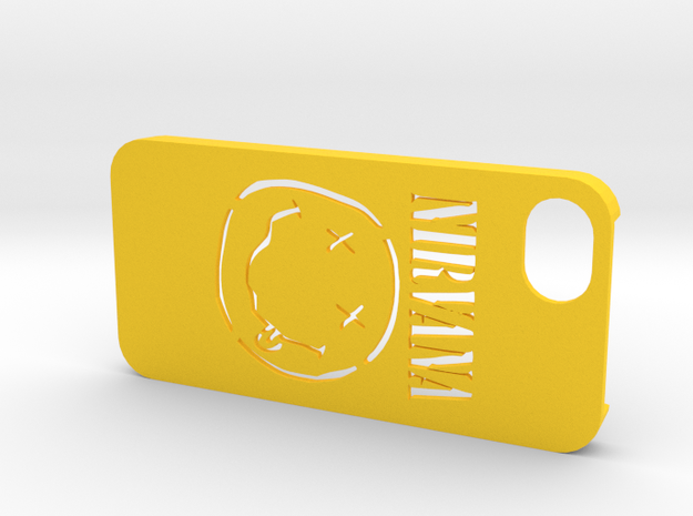 Iphone 5 Nirvana case in Yellow Strong & Flexible Polished