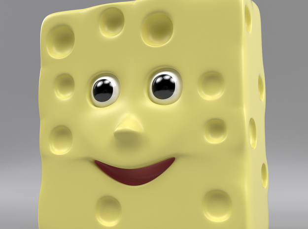 Monsieur Fromage toy character in Full Color Sandstone