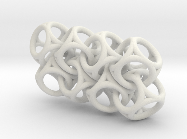 Spherical Cuboid Chain in White Strong & Flexible