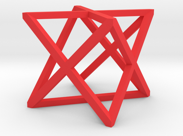 xCube Medium in Red Strong & Flexible Polished