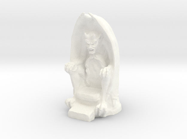 Gargoyle Throne in White Processed Versatile Plastic