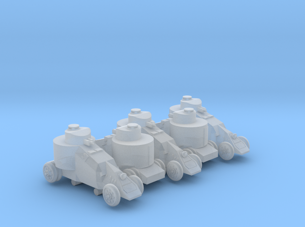 Benz-Mgebrov Armoured Car (6mm, 5up) in Smooth Fine Detail Plastic