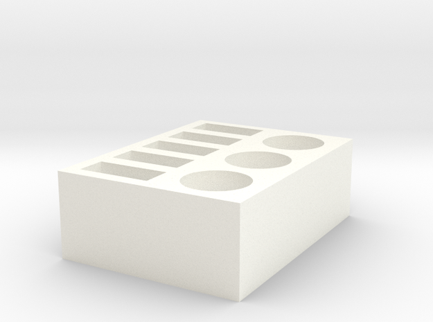 USB and Miscellaneous Desktop Organizer  in White Strong & Flexible Polished