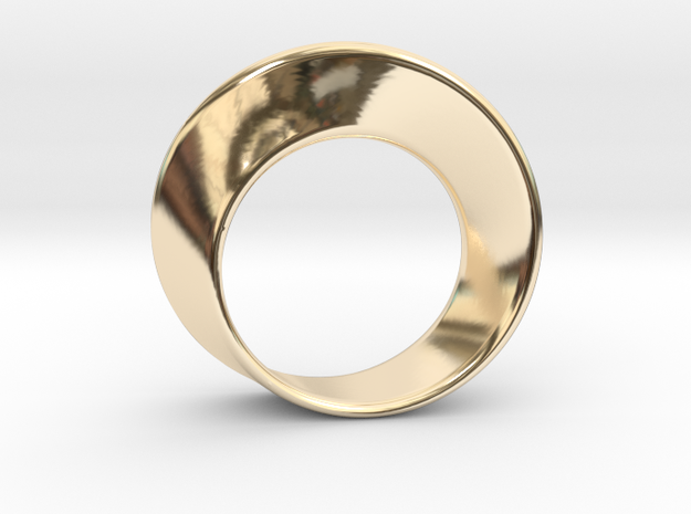 Mobius Strip Ring (Size 7) in 14k Gold Plated