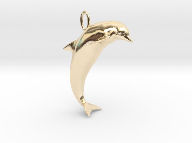 Dolphin Pendant in 14K Gold