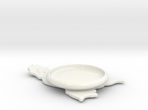 soap dish in Gloss White Porcelain