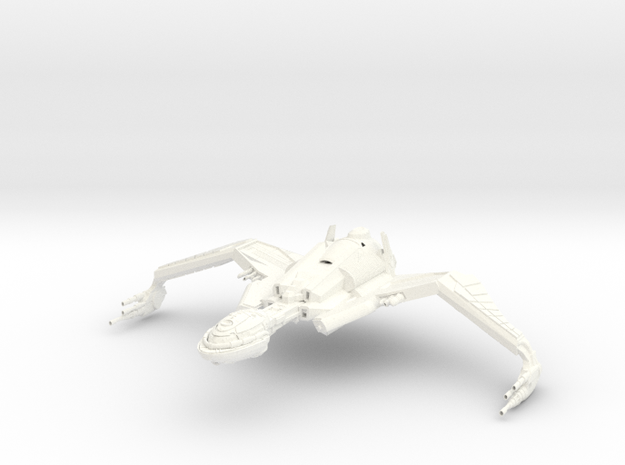 Bird Of Prey HvyCruiser II in White Strong & Flexible Polished