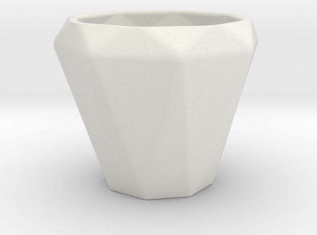 Diamond Esspresso Cup in White Natural Versatile Plastic
