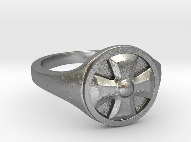 Ring Templier : Croix de Malte // Size US 10 3/4 in Natural Silver