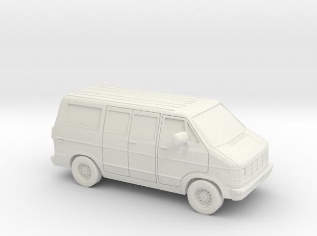 1/87 1986-93 Dodge Ram 150 Van in White Natural Versatile Plastic