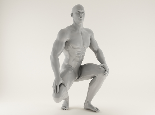 2016015-Strong man scale 1/10 in White Processed Versatile Plastic