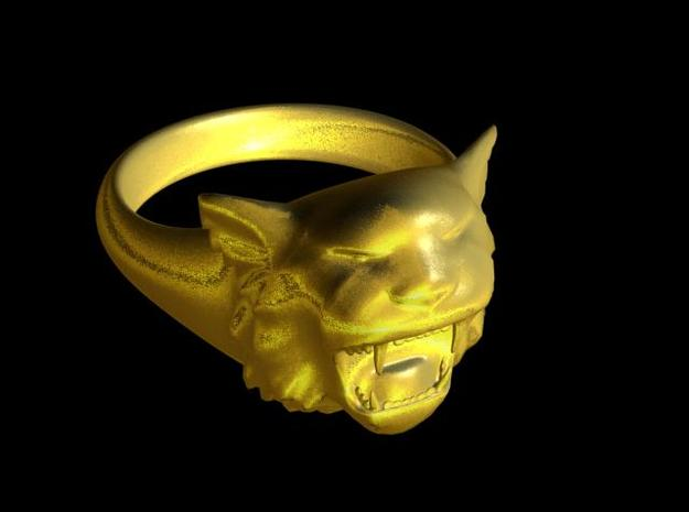 Awesome Tiger Ring Size 13 in 14K Yellow Gold