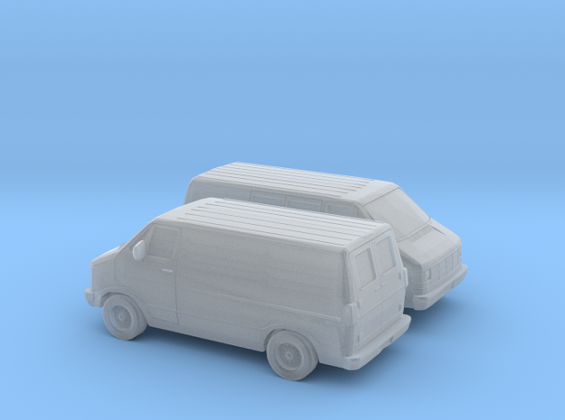 1/160 2X 1986-93 Dodge Ram 150 Delivery Van in Frosted Ultra Detail
