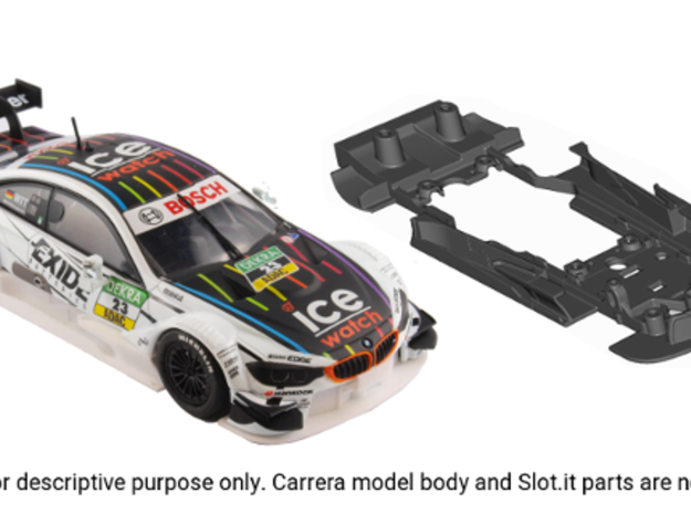S10-ST2 Chassis for Carrera BMW M4 DTM STD/STD in Black Natural Versatile Plastic