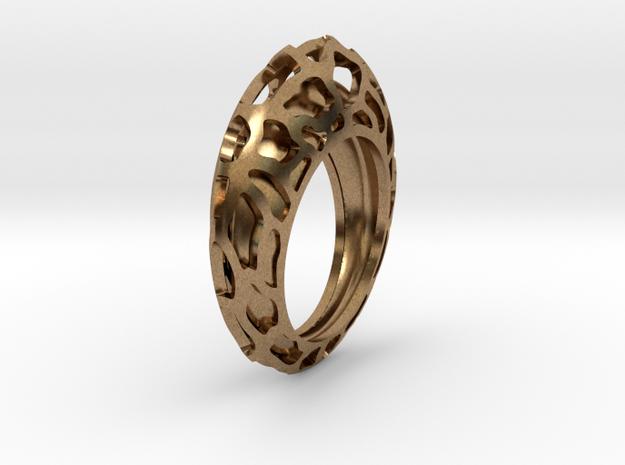 Orbit Central ring in Raw Brass