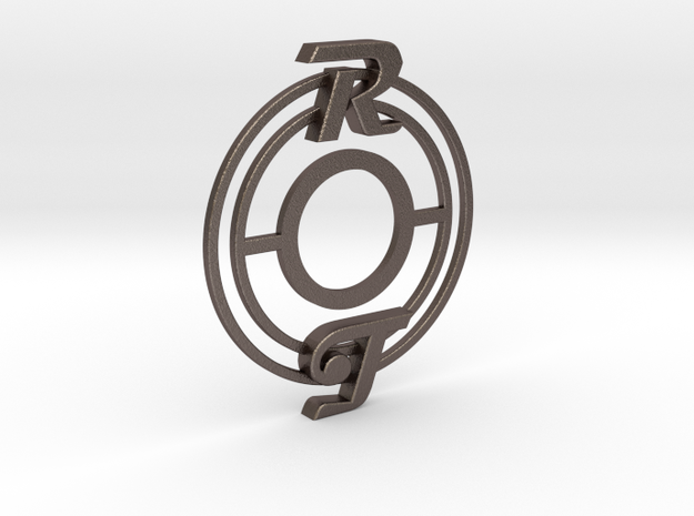 Pickup Selector Plate - Magneto R/T With Circle Tr in Polished Bronzed Silver Steel