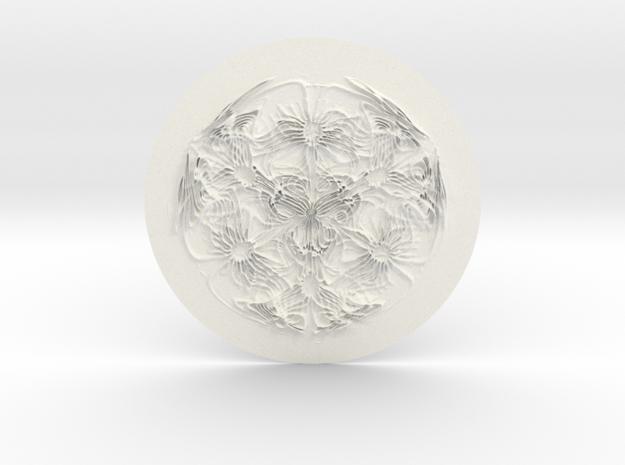 Cyma3D Glyph 'One' in White Processed Versatile Plastic