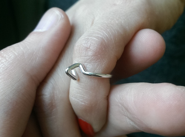 Summit Ring S.02 US size 3,  d=14mm in Polished Silver: 3 / 44