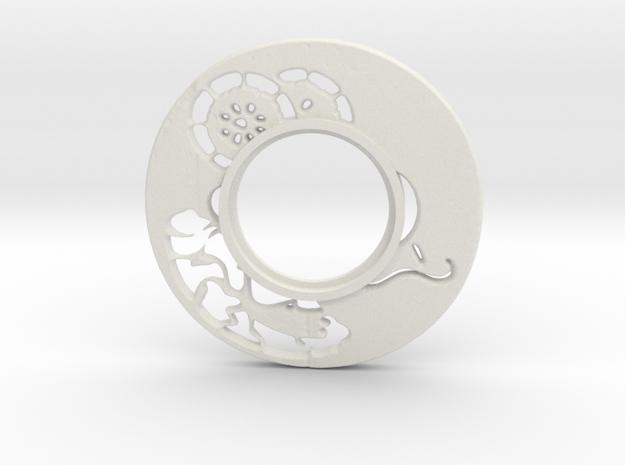 MHS compatible Tsuba 6 in White Natural Versatile Plastic